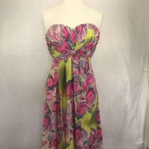 Jessica Simpson Strapless Floral Maxi Dress